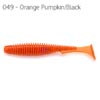 "Nástraha U-Shad 4"" FishUP, Orange Pumpkin, Black"