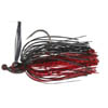 Nástraha Skirted Jig Head, Black-Red, 10g