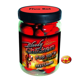 Boilies reflexné plavačky Neon Pop Up Neon Pop Up Bloody Chick, 16+20mm