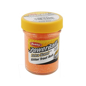 Berkley Gulp! Trout Bait Fluorescent Orange Extra Scent Glitter, Cesto
