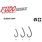 Háčik FUDO 2801 SLIDER CARP BLACK NICKEL