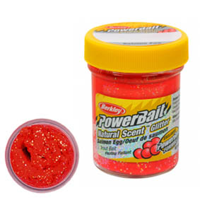 PowerBait® Select Trout Bait Cesto Salmon Red with Glitter